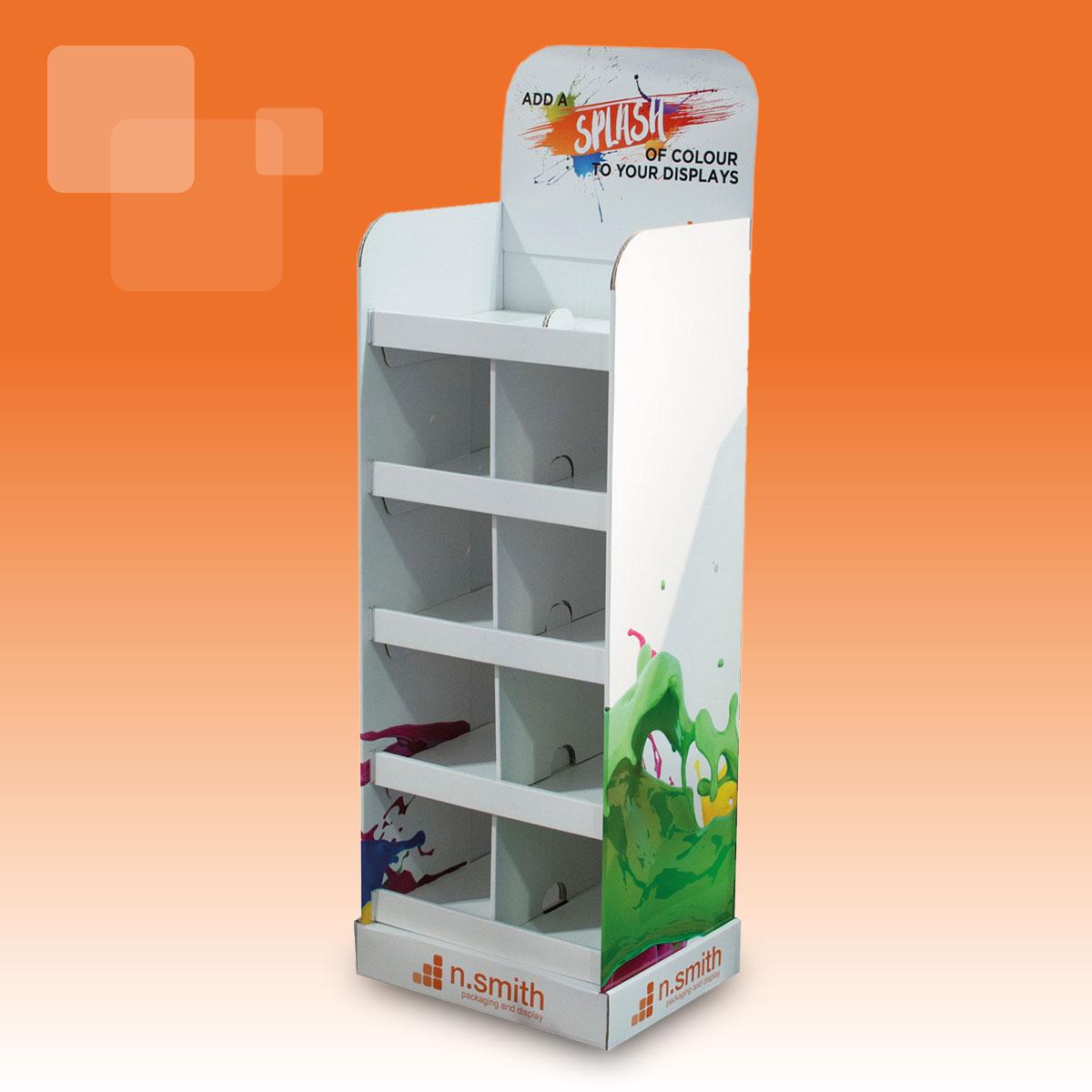n smith cardboard packaging oldbury point of sale printed display fsdu floor standing unit gallery card greeting